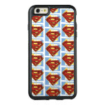 Supermann-rotes und blaues Muster OtterBox iPhone 6/6s Plus Hülle