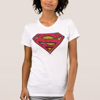 Supermann S-Schild | beunruhigtes Logo T-Shirt