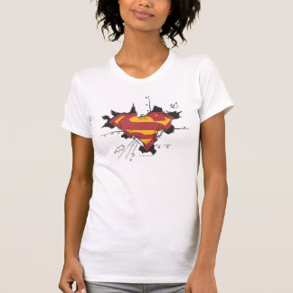 Supermann S-Schild | defektes Metalllogo T-Shirt