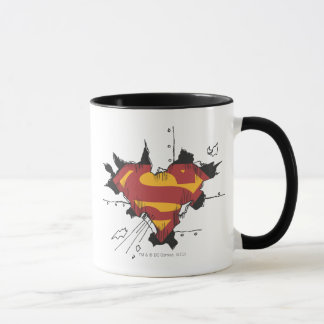Supermann S-Schild | defektes Metalllogo Tasse