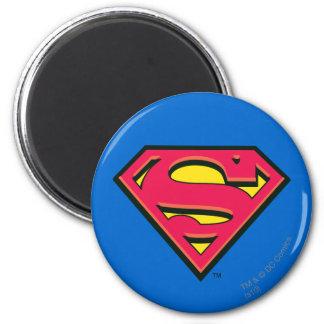 Supermann S-Schild | klassisches Logo Runder Magnet 5,1 Cm