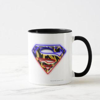 Supermann S-Schild | Lila-Rotes Graffiti-Logo Tasse