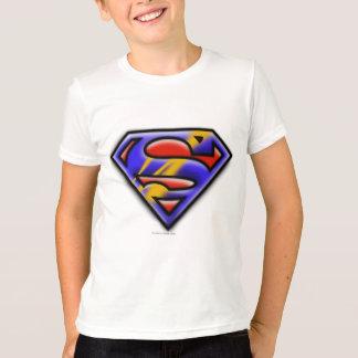 Supermann S-Schild | lila Spritzpistolen-Logo T-Shirt