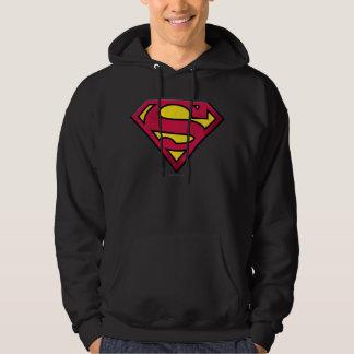 Supermann S-Schild | Schmutz-Logo Hoodie