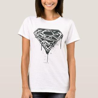 Supermann S-Schild | zersplittertes Spritzer-Logo T-Shirt