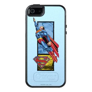 Supermann springt oben mit Logo OtterBox iPhone 5/5s/SE Hülle