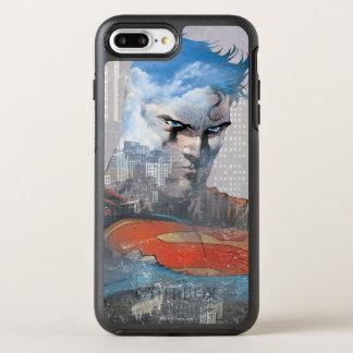Supermann-Starren OtterBox Symmetry iPhone 8 Plus/7 Plus Hülle