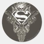 Supermann, Stern und Schädel Aufkleber