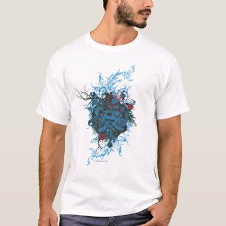 Supermann-stilisiertes | blaues Herz-Rot-Logo T-Shirt