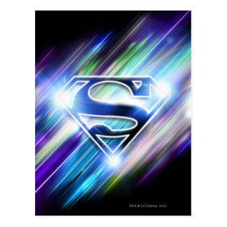 Supermann-stilisiertes | glänzendes postkarte