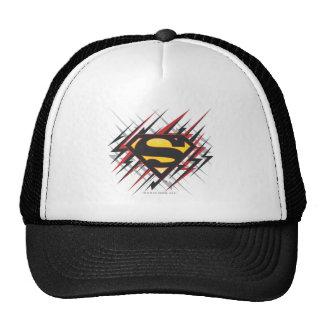 Supermann stilisiertes schwarzes | und Rot schlägt Retrokultkappe