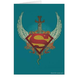 Supermann Stylized | Flügel-aquamarines Grußkarte