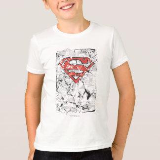 Supermann Stylized | zerknittertes Comic-Logo T-Shirt
