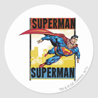 Supermann, Supermann Runder Aufkleber