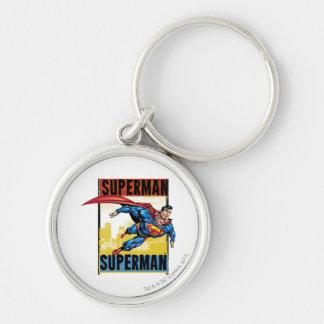 Supermann, Supermann Silberfarbener Runder Schlüsselanhänger