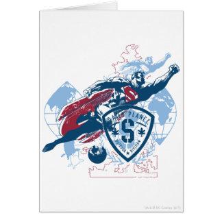 Supermann und Karte