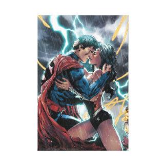 Supermann-/Wunder-Frauen-Comic-fördernde Kunst Leinwanddruck