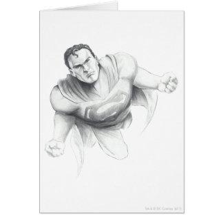 Supermann-Zeichnen Karte