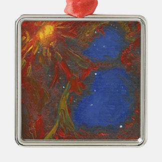 Supernova Silbernes Ornament