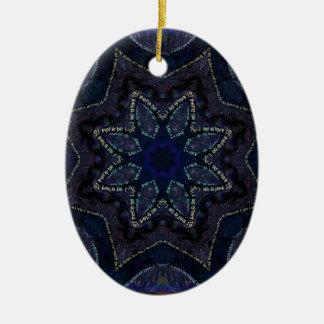Supernova-Stern-Power Ovales Keramik Ornament