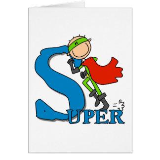 SuperStrichmännchen-Held Karte