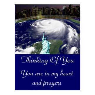 Supersturm Sandy 2012, Auge des storm_ Postkarten