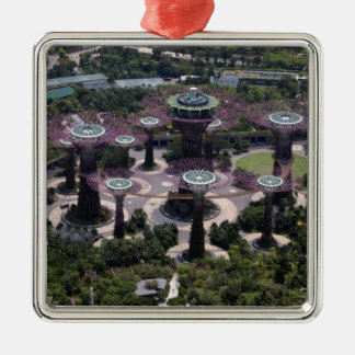 Supertree Waldung, Singapur Silbernes Ornament