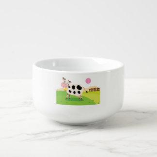 Suppen-Tasse mit kleiner Kuh Große Suppentasse