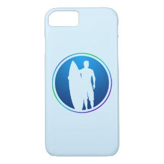 Surfer, der Surfbrett iPhone Fall hält iPhone 8/7 Hülle