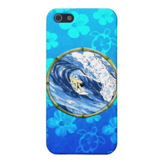 Surfer im Bambuskreis Etui Fürs iPhone 5