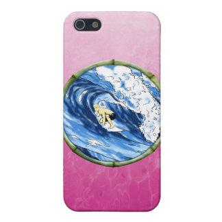 Surfer im Bambuskreis iPhone 5 Cover