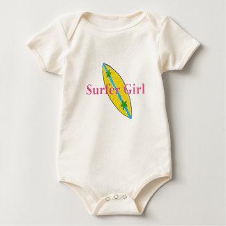 Surfer-Mädchen-Baby Baby Strampler