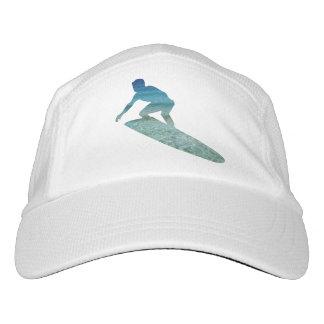 Surfer-surfender Aqua-blauer Ozean-abstrakter Hut Headsweats Kappe