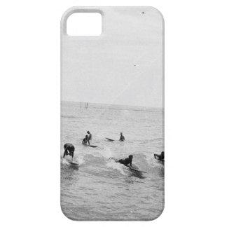 Surfers auf Waikiki setzen, Hawaii, Zwanzigerjahre iPhone 5 Etui
