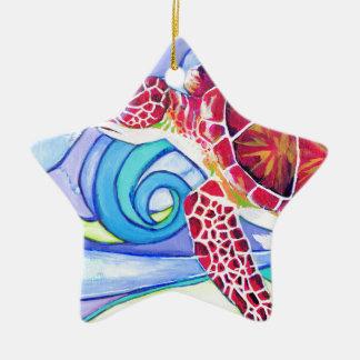 Surfin Schildkröte Keramik Ornament