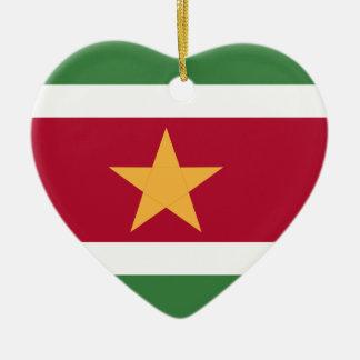 Surinam-Flagge Keramik Herz-Ornament