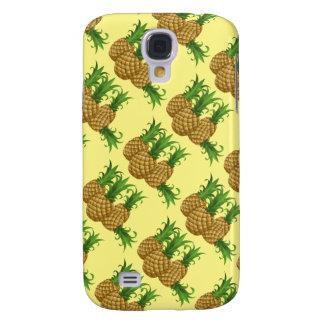 süße Ananas. gelber Hintergrund Galaxy S4 Hülle