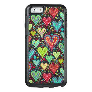 Süße bunte Herzen und Punkt-Entwurf OtterBox iPhone 6/6s Hülle