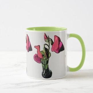 Süße Erbsen in der Vasen-Wecker-Tasse Tasse