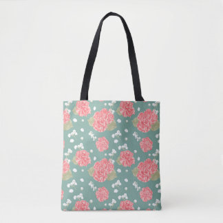 Süße Gartennelken-Blumen-nahtloses Muster