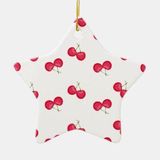 Süße Kirscheinzigartiges Muster Keramik Stern-Ornament