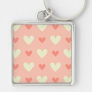 Süße niedliche Liebe-Herz-nahtloses Muster Schlüsselanhänger