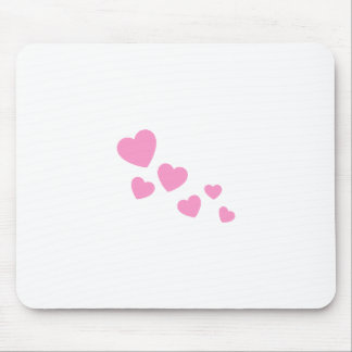 Süße rosa Herzen Mousepads