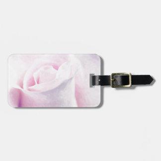 Süße rosa Rose, feine Kunst Mit Blumenwatercolor Kofferanhänger