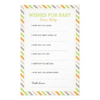 Süße Safari-liebe Baby-Karten Briefpapier