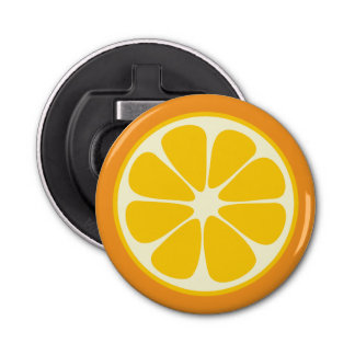 Süße saftige orange tropische Zitrusfrucht-Scheibe Runder Flaschenöffner