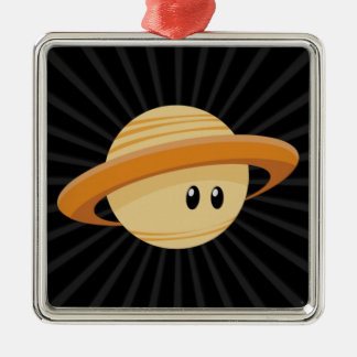 Süsse Saturn Silbernes Ornament