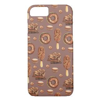 Süße Schokoladen-Leckerei-Muster iPhone 8/7 Hülle