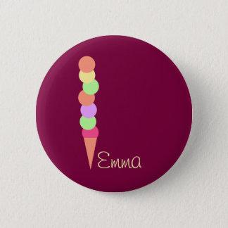 Süße Sommer-Eiscreme Runder Button 5,7 Cm