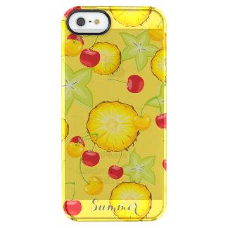 Süße Sommer-Früchte Durchsichtige iPhone SE/5/5s Hülle